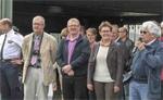 <span class=s0>Le Capitaine Lepr&eacute;vost, M. Wald, M. Schmit, Mme Reyni&eacute;, recteur et M. Cornu.</span>