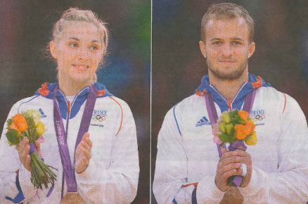 Automne PAVIA et Ugo LEGRAND, médaillés de bronze
